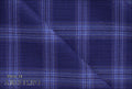 Ariston J Worsted Collection Blue Check Suiting - Rex Fabrics