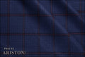 Ariston J Worsted Collection Blue And Red Windowpane Suiting - Rex Fabrics