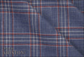 Ariston J Worsted Collection Blue And Red Check Suiting - Rex Fabrics