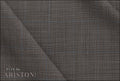 Ariston New Evergreen Collection Grey Check Suiting - Rex Fabrics