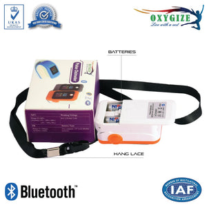 Bluetooth Fingertip and Pulse Rate Monitor for Apple and Android