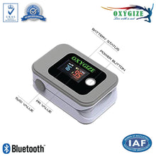 Load image into Gallery viewer, Wireless Fingertip Pulse Oximeter, 2 Way Display , Bluetooth Communicating Smartphone (iOS & Android)