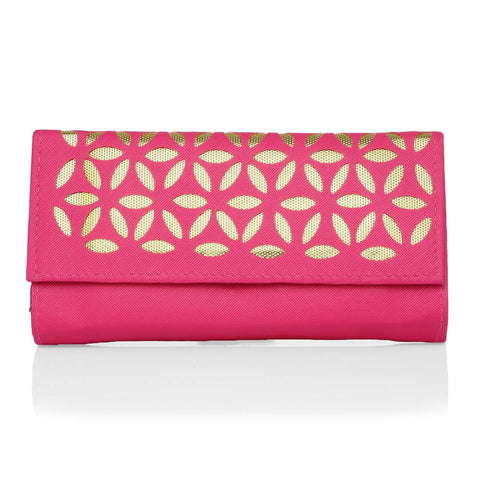 Women's Pink PU Card Holder Wallet