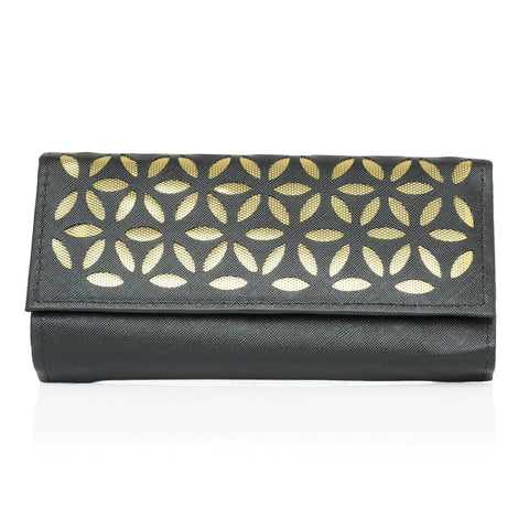 Women's Black PU Card Holder Wallet