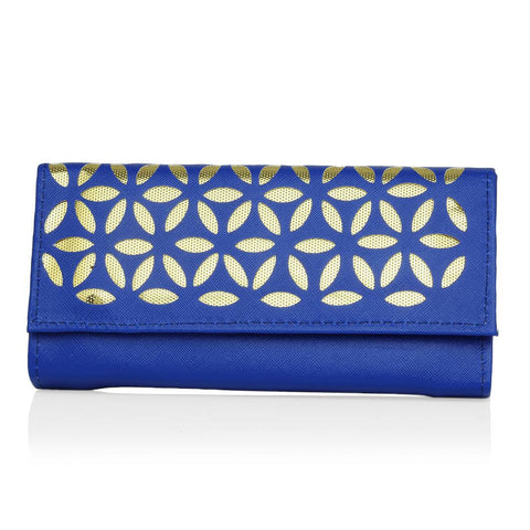 Women's Blue PU Card Holder Wallet