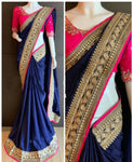 Trendy Multicolored Chiffon Saree With Blouse Piece