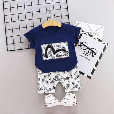 Amazing White Polycotton Printed Kid's Clothing Set