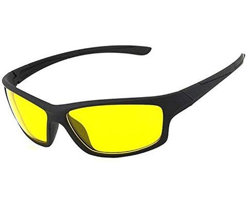 Trendy Yellow Uv Protection Night Drive Sports Sunglass For Men And Women