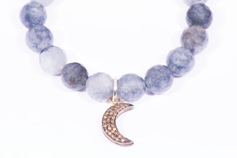 Blue Denim | Moon | Charm