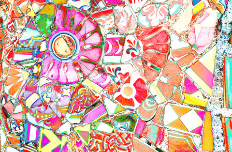 Gaudi Mosaic Pink | Rectangle