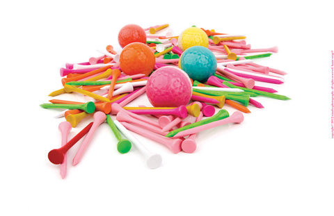 Multi-Colored Golf Tees