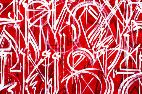 Red Graffiti | Rectangle