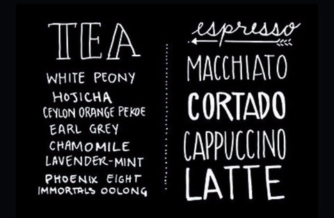 Coffee | Tea | Rectangle