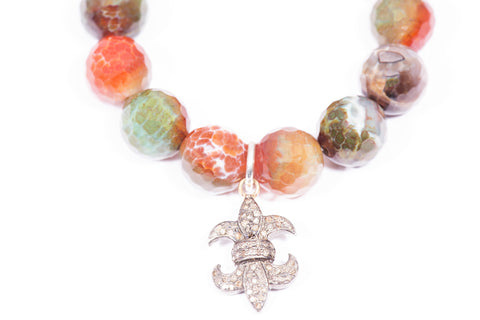 Multi Colored | Fleur- de- lis' | Charm