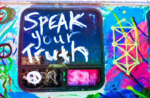 Speak Your Truth Graffiti | Rectangle