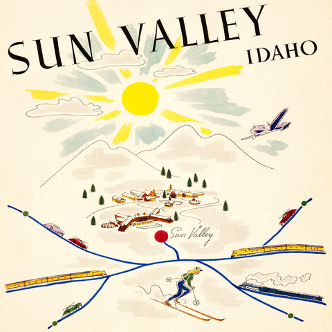 Sun Valley Poster | Square