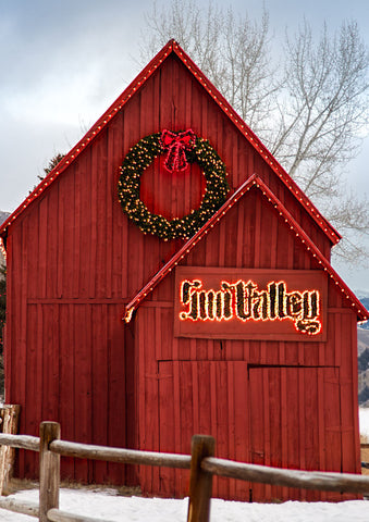 Sun Valley Barn, Winter | Rectangle