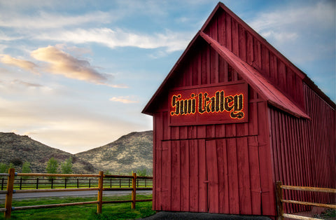 Sun Valley Red Barn | Rectangle