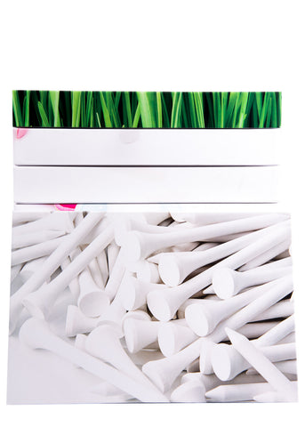 White Golf Tees