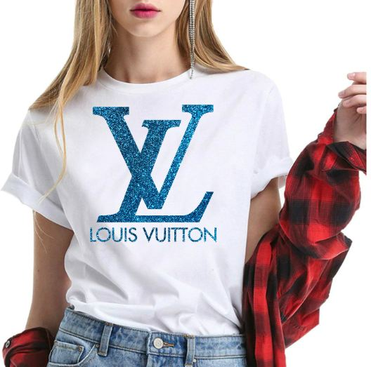 Louis Vuitton Glitter Blue Shirt For Men & Women