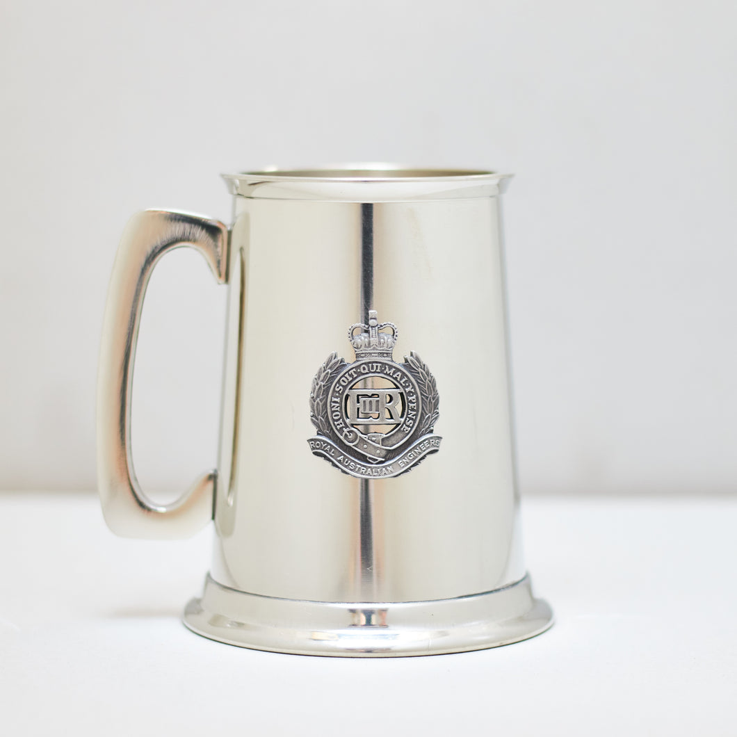Selwin Pewter Tankard 560 ML with The Royal Australian Engineers Badge BPT018 - End of Stock - With Imperfections