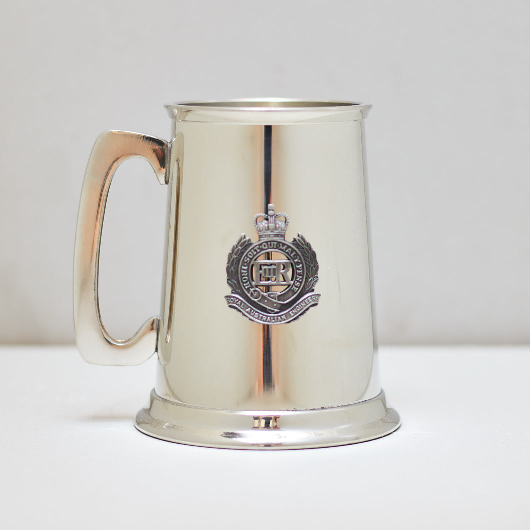 Selwin Pewter Tankard 560 ML with The Royal Australian Engineers Badge BPT019  - End of Stock - Imperfections