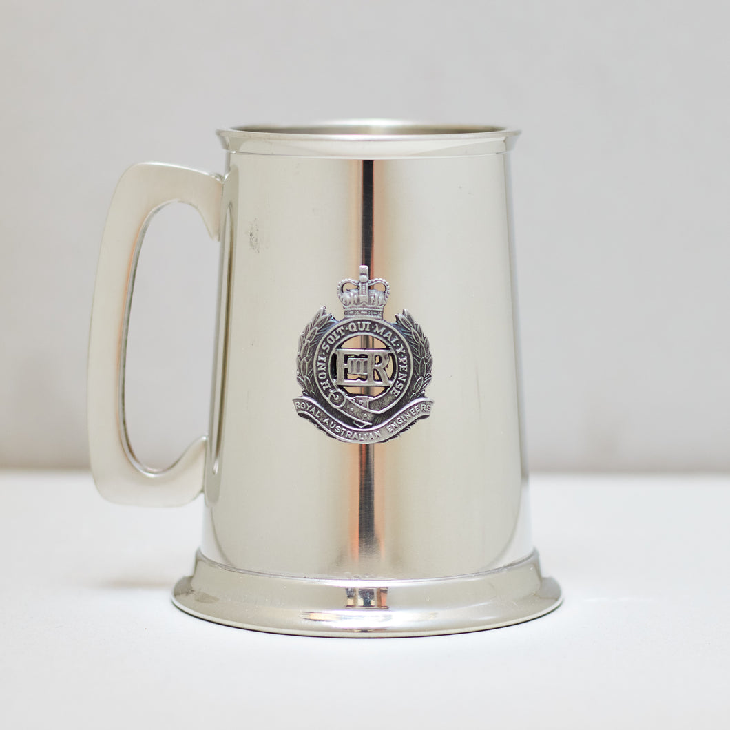 Selwin Pewter Tankard 560 ML with The Royal Australian Engineers Badge BPT021  - End of Stock - With Imperfections