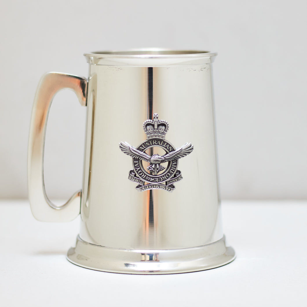 Selwin Pewter Tankard 560 ML with The Royal Australian Air Force Badge BPT027 - End of Stock - With Imperfections