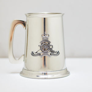Selwin Pewter Tankard 560 ML with The Royal Regiment of Australian Artillery Badge BPT031 - End of Stock - With Imperfections