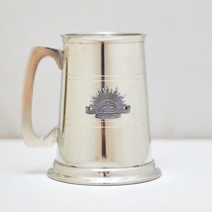 Selwin Pewter Stripped Tankard 560 ML with The Australian Army Rising Sun Badge BPT0132 - End of Stock - With Imperfections
