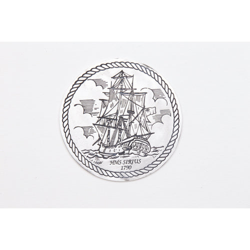Pewter Shipwrecks - HMS Sirius 1790 Coaster / Plate-Buckingham Pewter