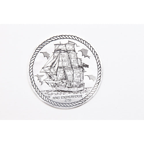 Pewter Shipwrecks - HMS Endeavour 1770 Coaster / Plate-Buckingham Pewter