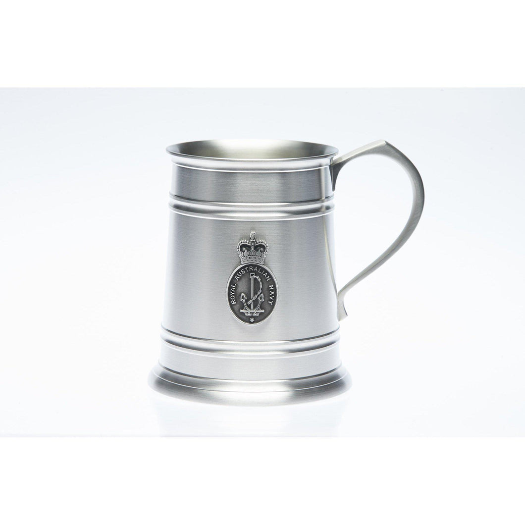 Royal Selangor Pewter Tankard 560 ML with The Royal Australian Navy (RAN) Badge - Buckingham Pewter