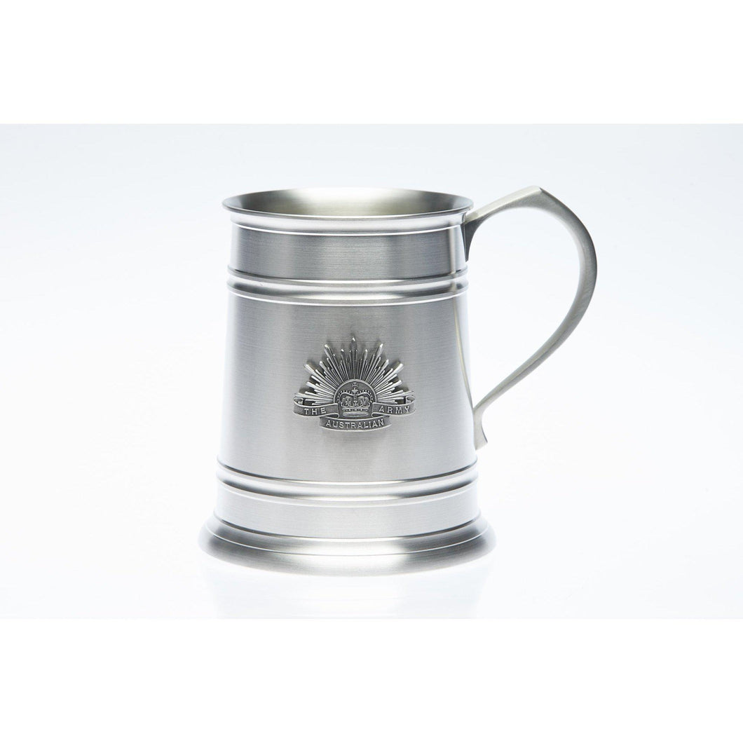 The Australian Army Rising Sun Badge 560 ml Tankard - Buckingham Pewter
