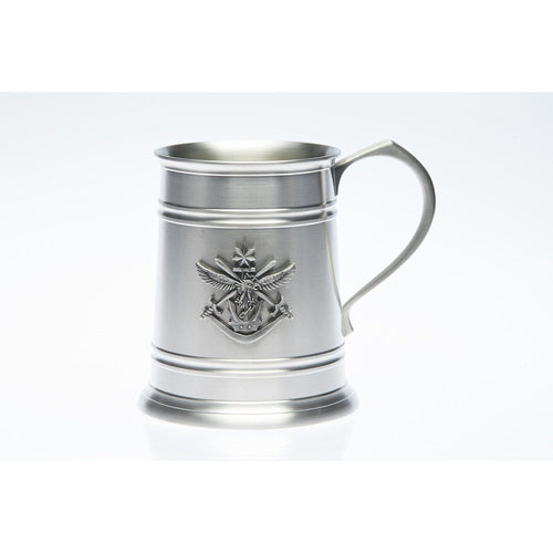 The Tri Service Badge 560 ml Tankard - Buckingham Pewter