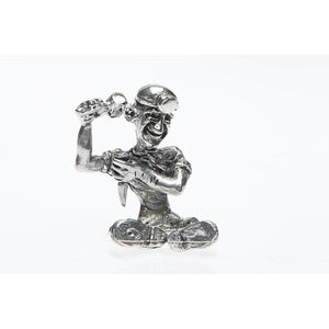 BP004 Pewter Miner Comical Chipper figurine-Buckingham Pewter