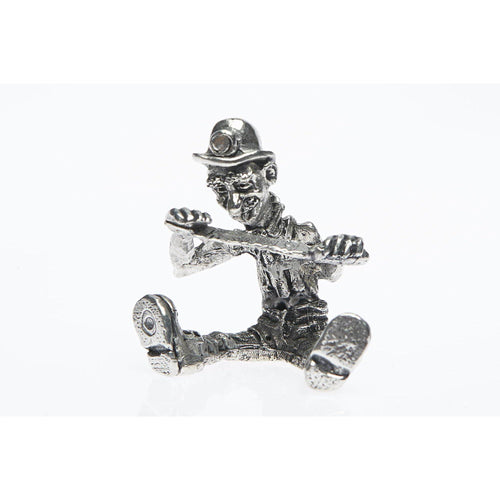 BP011 Pewter Miner Comical Filer figurine-Buckingham Pewter