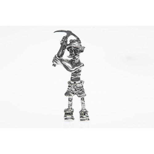 BP005 Pewter Miner Comical Pickman figurine-Buckingham Pewter