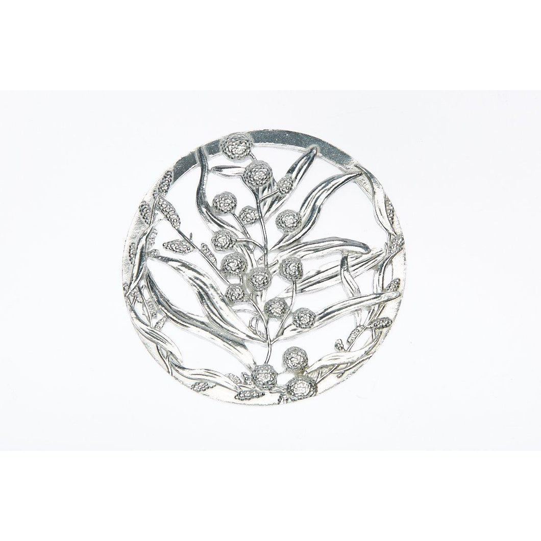 Pewter Pot Pouri Lid Wattle design-Buckingham Pewter