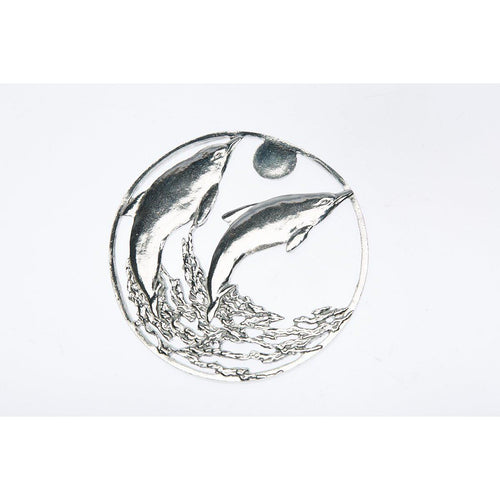 Pewter Pot Pouri Lid Dolphin design-Buckingham Pewter
