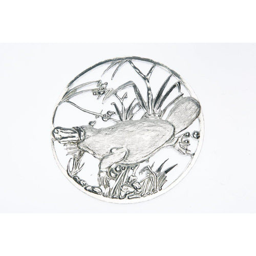 Pewter Pot Pouri Lid Platypus design-Buckingham Pewter
