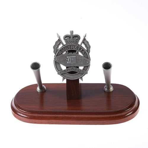 1st Armoured Regiment Double Pen Desk Set – Paratus-Buckingham Pewter