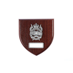 1st Armoured Regiment Plaque Large (Paratus) - Buckingham Pewter
