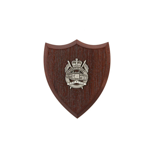 1st Armoured Regiment Plaque Small (Paratus) - Buckingham Pewter