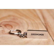 Load image into Gallery viewer, Groomsmen Keyring - Buckingham Pewter