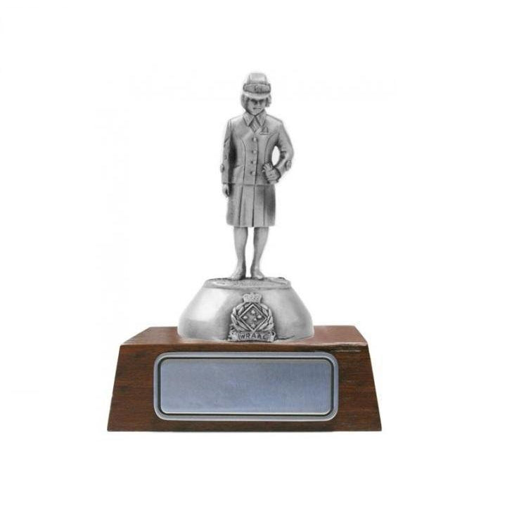 B105 The Women's Royal Australian Army Corps Pewter Figurine (WRAAC) - Buckingham Pewter