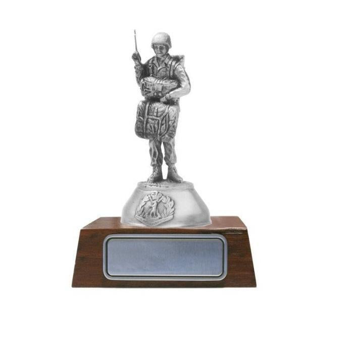 B114 Paratrooper Modern Pewter Figurine - Buckingham Pewter