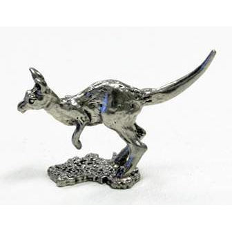 BP103 Pewter Kangaroo Mini on map of Australia-Buckingham Pewter
