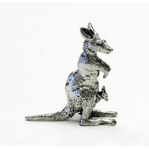 BP104 Pewter Kangaroo Small with Joey-Buckingham Pewter