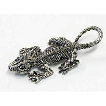 BP151 Pewter Helmet Gecko-Buckingham Pewter